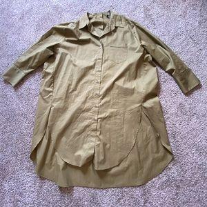 Zara Poplin Shirt With Tied Details. Size XXL